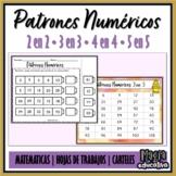 Patrones Numéricos 2 en 2, 3 en 3, 4 en 4 y 5 en 5.
