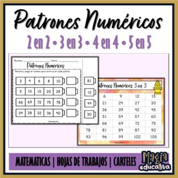 Patrones Numéricos 2 en 2, 3 en 3, 4 en 4 y 5 en 5. by Magia ...
