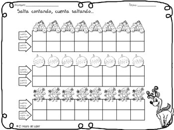 Patrones numéricos - 100 Chart Spanish Activities - Number Patterns