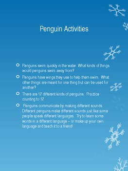Patsy the Peguin Class pet CORRECTION PAGE