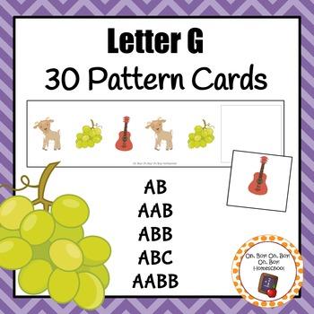 Patter Cards: Letter G Pattern Cards