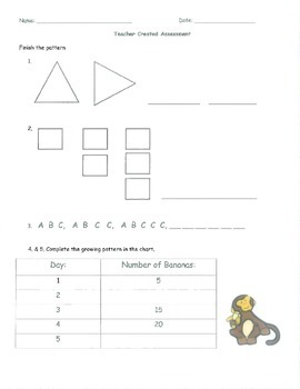 Pattern Activities [Growing and Repeating]