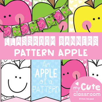 picture regarding Apple Pattern Printable named Routine Apple Clroom Banner Pack