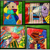 Pattern Art Inspired by Artist Romero Britto