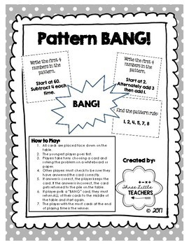 Pattern Bang - Math Game