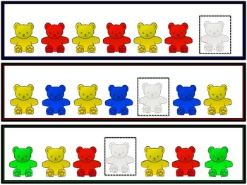 Pattern Bear Practice Cards ~ Math Center FREE!