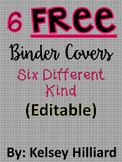 FREE Binder Covers in Black and White (pattern)