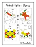 Pattern Block A to Z Animal Set - Colored