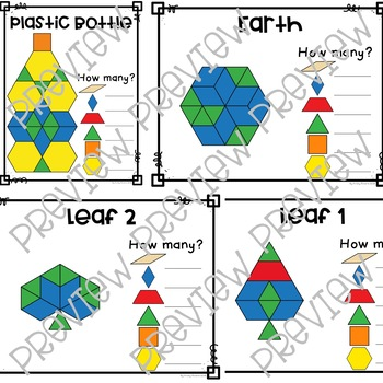 Pattern Block Activity Cards - Earth Day