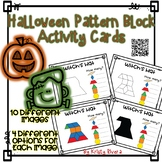 Pattern Block Activity Cards - Halloween
