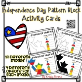 Pattern Block Activity Cards - Independence Day