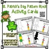 Pattern Block Activity Cards - St. Patrick's Day