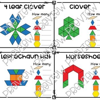 Pattern Block Activity Cards - St. Patrick's Day