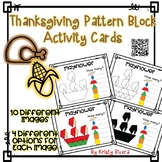Pattern Block Activity Cards - Thanksgiving