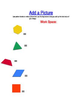 Pattern Block Addition Activity
