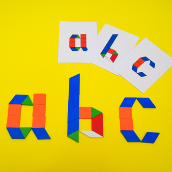 Pattern Block Alphabet Printable Challenge Cards: Uppercase & Lowercase Letters