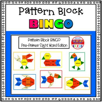 Sight Word Activity - Pattern Block Bingo: Pre-Primer Sight Word Edition