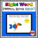 Pattern Block Bingo: Primer Sight Word Edition