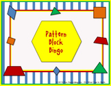 Pattern Block Bingo  **Review Shapes and Colors Pre-K and