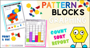 Pattern Block Bundle: 700+ Activity Mats & Task Card Worksheets