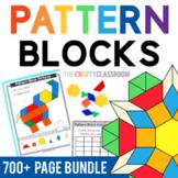 Pattern Blocks Mats & Templates BUNDLE: Alphabet, Animals, Holidays, Seasons