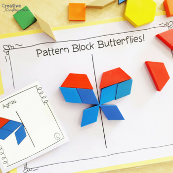 Pattern Block Butterflies! Line of Symmetry Activity