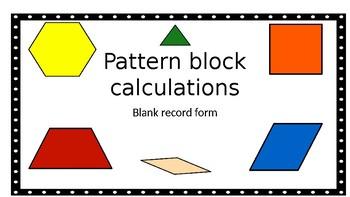 Pattern Block Calculations