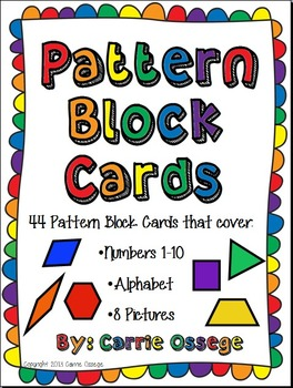Pattern Block Cards