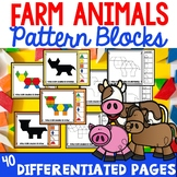 Pattern Block Cards Farm Animals