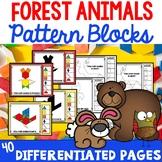 Pattern Block Cards Forest Animals