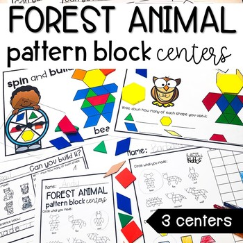 Pattern Block Centers | Forest Animal Theme |