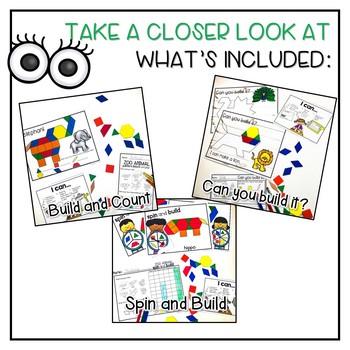 Pattern Block Centers | Zoo Theme |