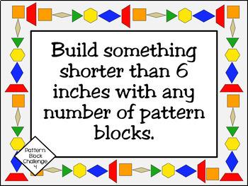 Makerspace: Pattern Block Challenge Task Cards