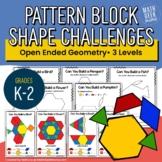 Pattern Block Challenges | Composing Shapes for Grades K-2