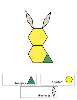 Pattern Block Composite Shapes - Animal Creations