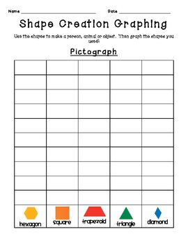 Pattern Block Creation Graphing Activities
