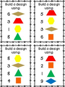 Pattern Block Design Task Cards