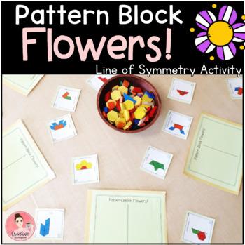 Pattern Block Flowers! Line of Symmetry Activity