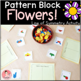 Pattern Block Flowers! Line of Symmetry Activity with Work Mats and Task Cards