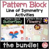 Pattern Block Flowers and Butterflies! Line of Symmetry Bundle