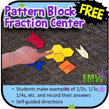 Pattern Block Fraction Center Recording Sheet and Self-Gui