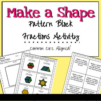 Pattern Block Fraction Shapes - Conceptual Fractions