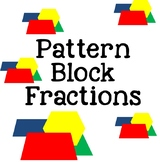 Pattern Block Fractions {No Prep + Digital} Distance Learning