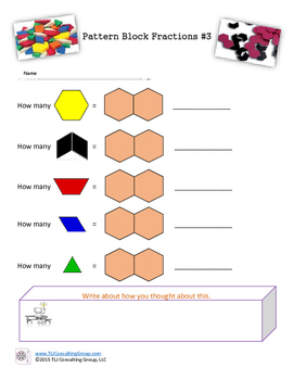 Pattern Block Fractions Anyone?