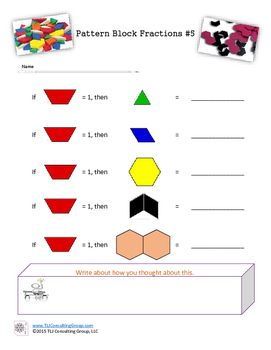 Pattern Block Fractions: Investigations with Basic Blocks Double Hex and Chevron