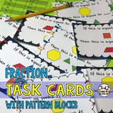 Pattern Block Fractions Task Cards (Middle Grades)