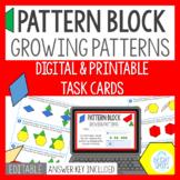Pattern Block Growing Pattern Task Cards