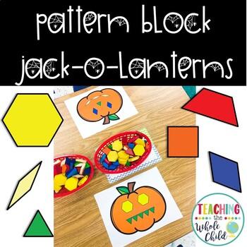 Pattern Block Pumpkin / Jackk-o-lantern Faces