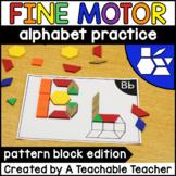 Pattern Block Letter Mats Alphabet Activities