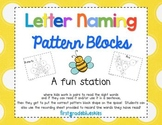 Pattern Block Letter  Naming Math & Literacy Station